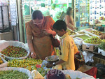 Life in Mumbai The traditional way:  Selecting the best produce, followed by the art of bargaining for the price. The modern way:      Many vendors now carry cell phones.  All it takes is  ...